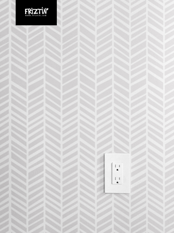 Herringbone Light Grey By Friztin Macro Fabric Friztin
